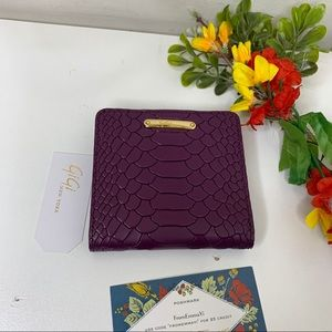Gigi New York Purple Python Embossed BiFold Wallet